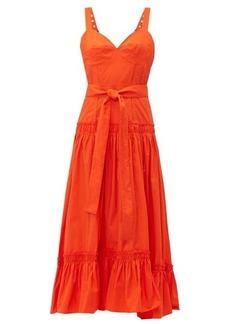 Proenza Schouler Buckle-strap cotton-poplin dress