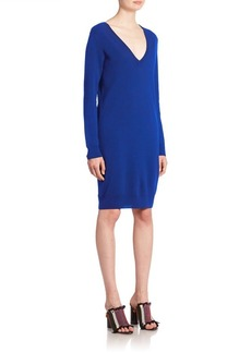 Proenza Schouler Button-Back Wool Knit Dress