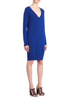 Proenza Schouler Button-Back Wool Knit Dress