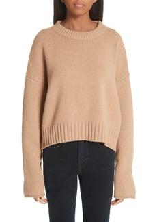Proenza Schouler Button Cuff Wool & Cashmere Blend Sweater