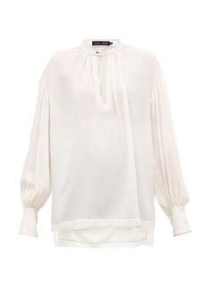 Proenza Schouler Buttoned-keyhole silk-georgette blouse