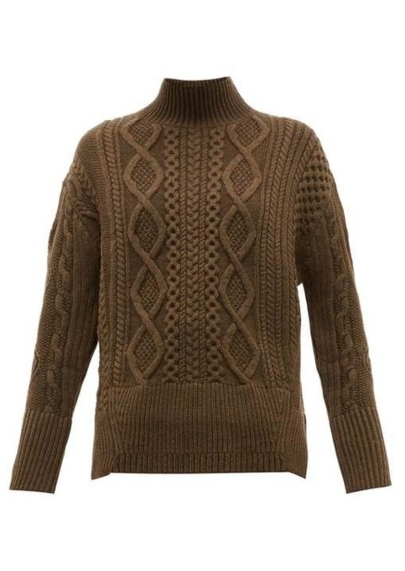 Proenza Schouler Cable-knit wool sweater