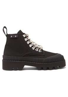 Proenza Schouler Canvas lace-up ankle boots