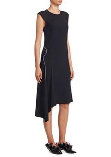 Cap Sleeve Asymmetric Dress