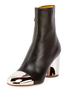Proenza Schouler Cap-Toe Metallic-Heel Bootie