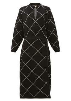 Proenza Schouler Chain-link print crepe midi dress