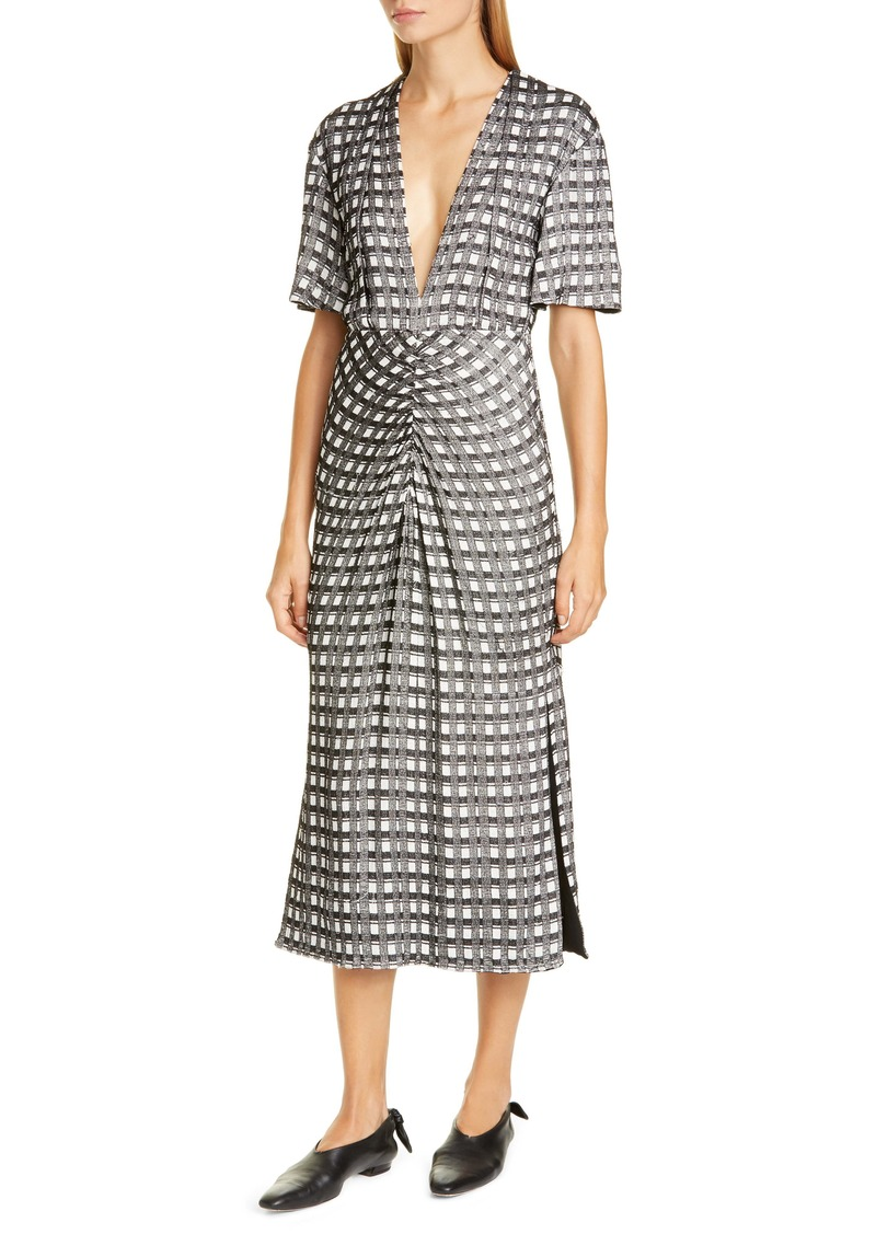 Proenza Schouler Check Jacquard Midi Dress