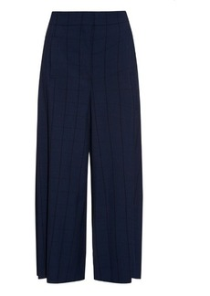 Proenza Schouler Checked wide-leg crepe trousers