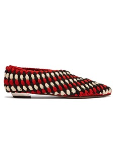 Proenza Schouler Cindy macramé point-toe flats