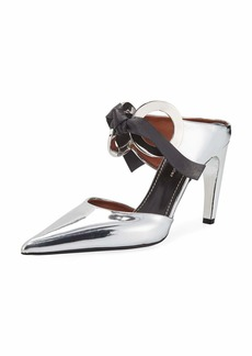 Proenza Schouler Circle Metallic Pointed Pumps