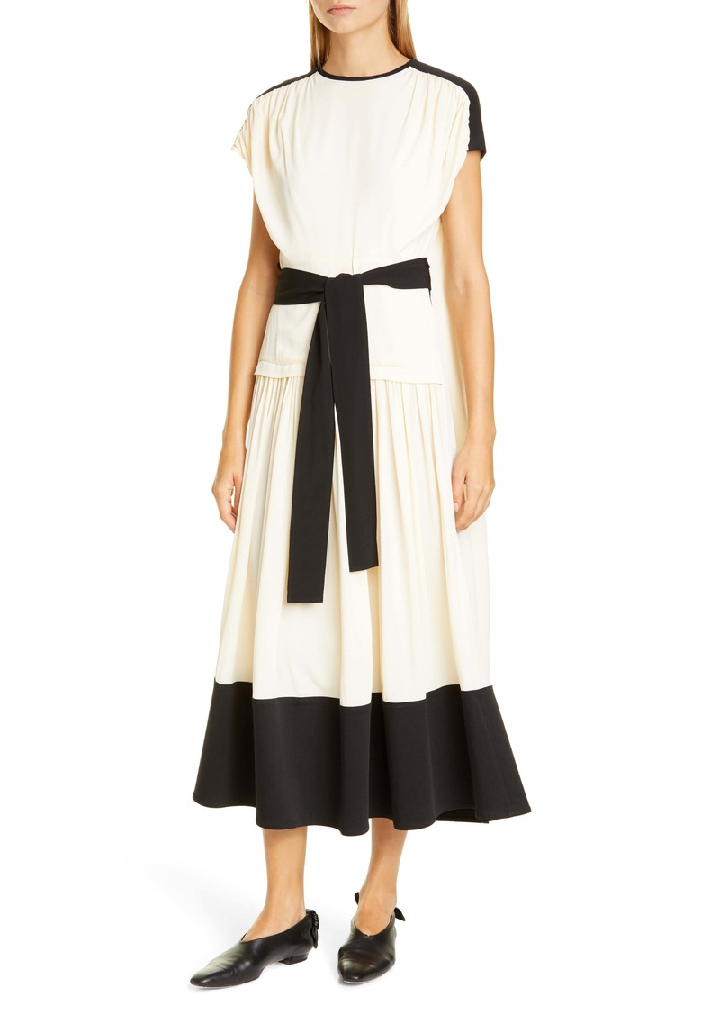 Proenza Schouler Colorblock Drape Dress