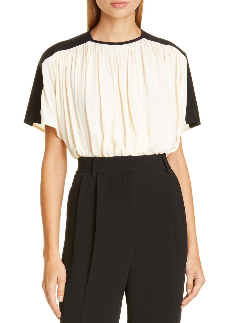 Proenza Schouler Colorblock Gathered Top