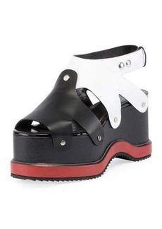 Proenza Schouler Colorblock Leather Platform Sandal