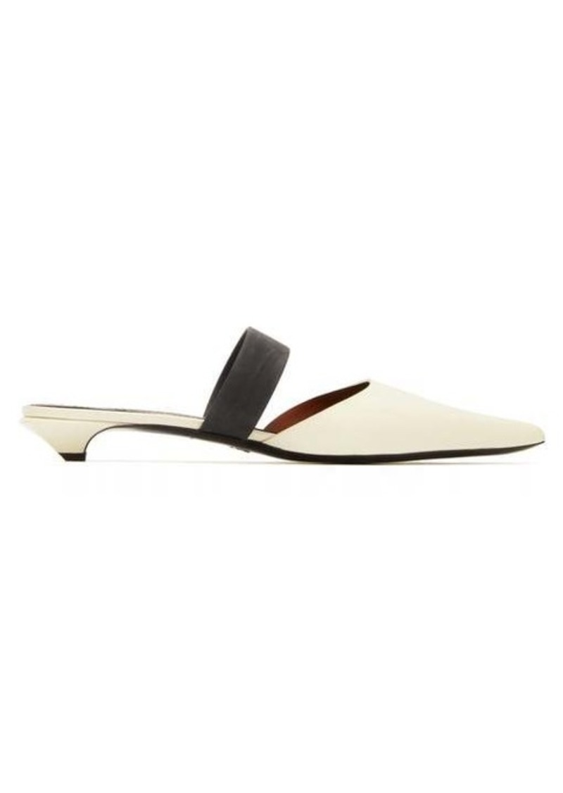 Proenza Schouler Contrast-panel patent-leather mules