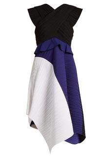 Proenza Schouler Contrast-panel pleated dress