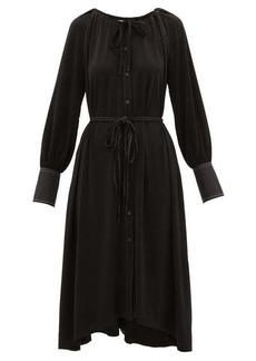 Proenza Schouler White Label Contrast-stitching crepe dress