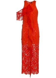 Proenza Schouler Corded Lace Dress - Red