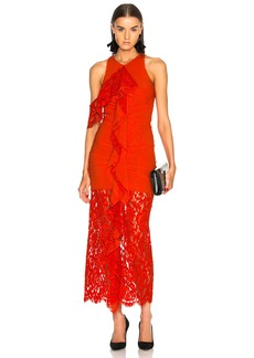 Proenza Schouler Corded Lace Ruffle Sleeveless Maxi Dress