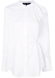 Proenza Schouler Cotton One Shoulder Button Down