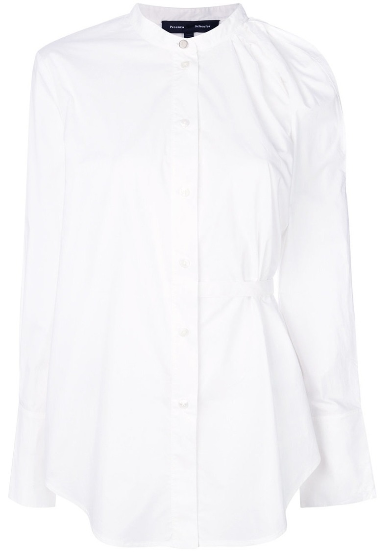 Proenza Schouler Cotton One Shoulder Button Down