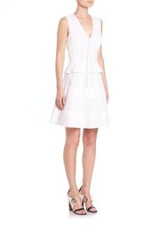 Proenza Schouler Cotton Poplin Peplum Dress