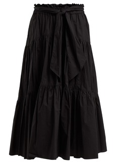 Proenza Schouler Cotton tiered midi skirt