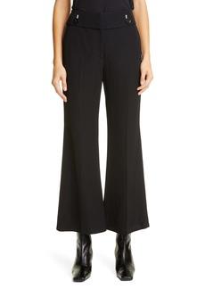Proenza Schouler Crepe Crop Flare Suiting Pants