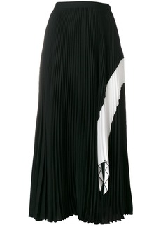 Proenza Schouler Crepe Pleated Skirt - Black
