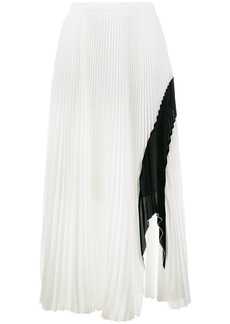 Proenza Schouler Crepe Pleated Skirt - White