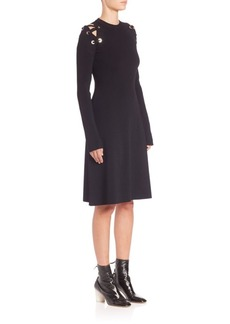 Proenza Schouler Crewneck Long Sleeve Dress