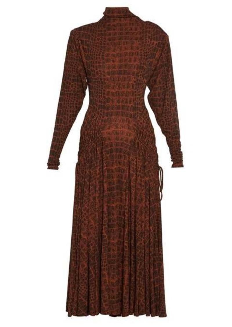 Proenza Schouler Crocodile-print jersey midi dress