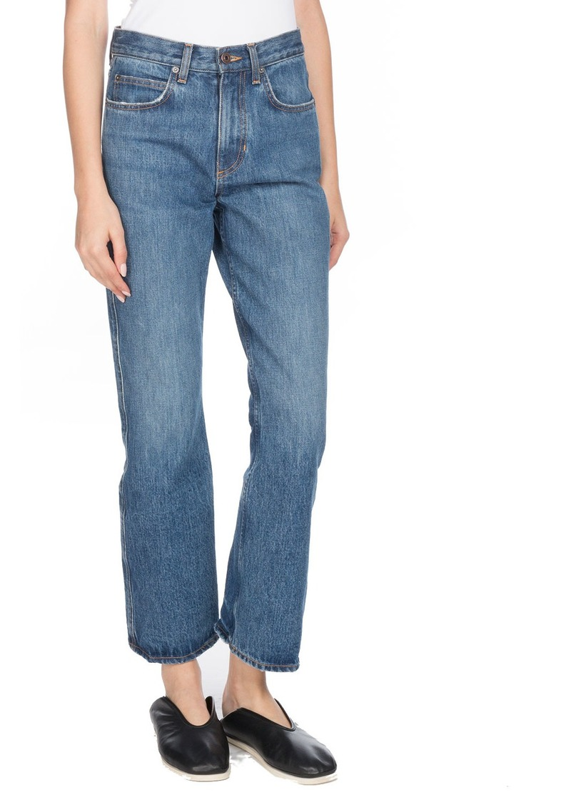 Proenza Schouler Cropped Flare Straight-Leg Jeans