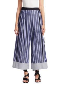 Proenza Schouler Cropped Stripe Wide-Leg Pants