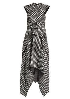 Proenza Schouler Cross-front crepe dress