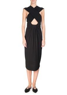 Proenza Schouler Cross-Front Sleeveless Pencil Dress