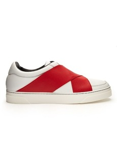 Proenza Schouler Crossover-strap leather low-top trainers