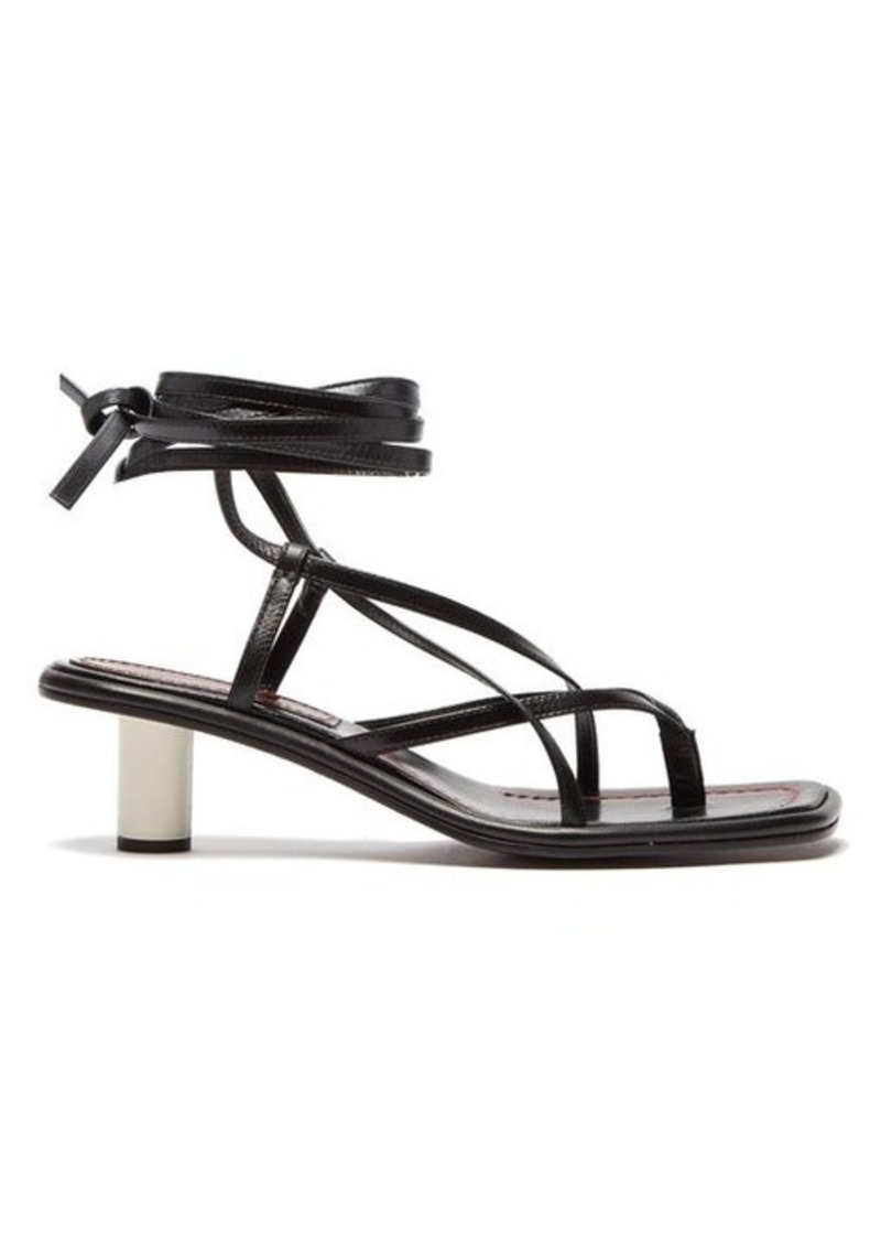 Proenza Schouler Cylindrical-heel wrap-around leather sandals