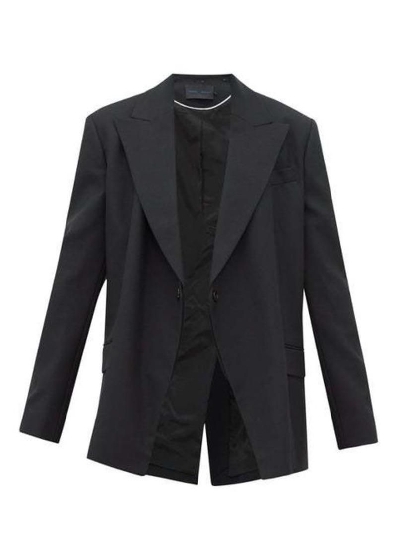 Proenza Schouler Detachable-lapel wool-blend twill blazer