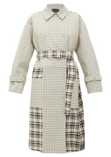 Proenza Schouler Double-breasted checked twill trench coat