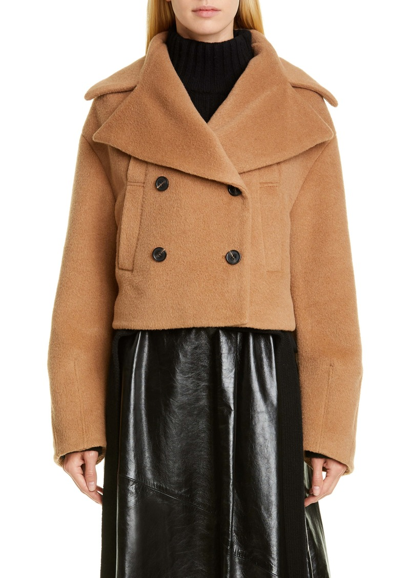 Proenza Schouler Double Breasted Crop Coat