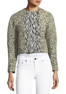 Proenza Schouler Double-Breasted Cropped Jacket