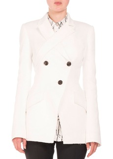 Proenza Schouler Double-Breasted Jacquard Jacket