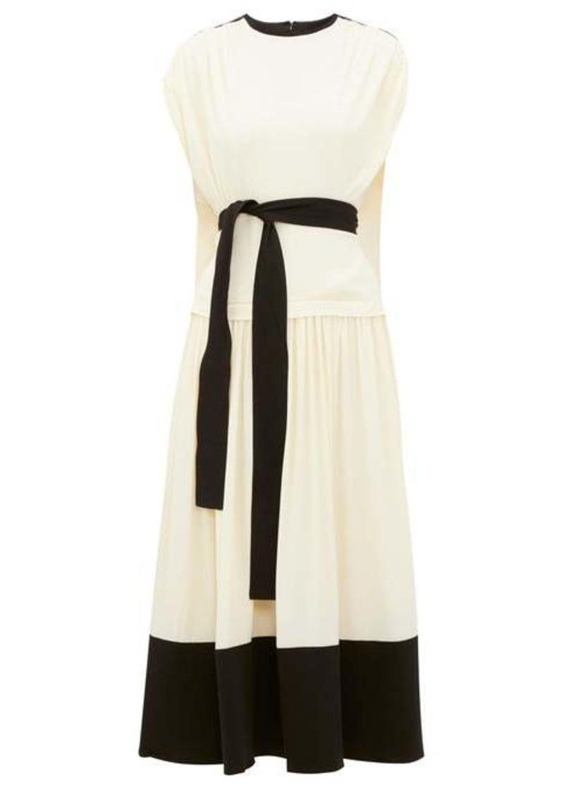 Proenza Schouler Draped cap sleeve crepe dress
