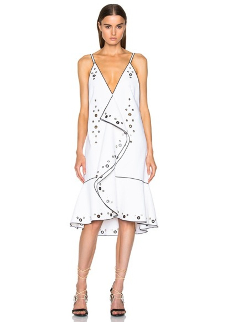 Proenza Schouler Drop Waist Ruffle Dress