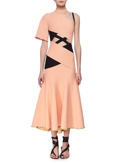 Proenza Schouler Exposed Bandage Asymmetric Midi Dress