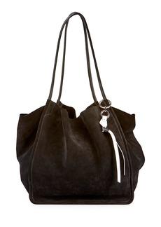 Proenza Schouler Extra-Large Suede Tote Bag  Black