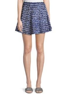Proenza Schouler Fil Coupé Ruffle Mini Skirt