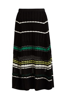 Proenza Schouler Fil coupé striped cotton-blend midi skirt