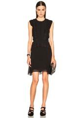 Proenza Schouler Fil Coupe Dot Jacquard A Line Dress