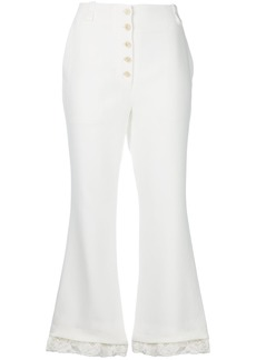 Proenza Schouler flared cropped trousers - White